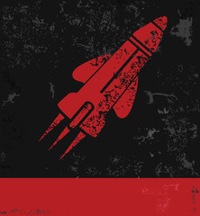 Rocket symbol grunge design,vector