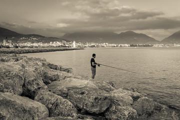 Fisherman, Alanya, Antalya, Turkey
