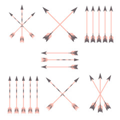 vector colorful arrow clip art set