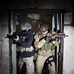 Special forces or contractor team during night mission/operation