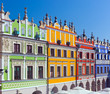 canvas print picture - Zamosc, Poland. Historic buildings of the old town