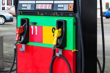 a modern petrol gas station