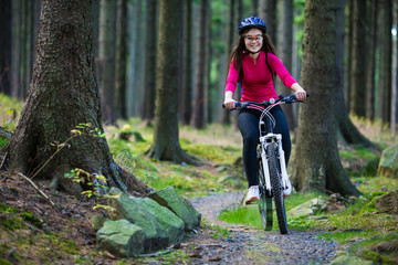 Healthy lifestyle - teenage girl cycling