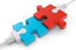 Verbindung weisse Puzzleteile