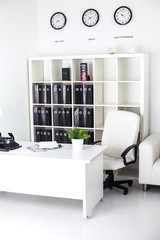 white business office