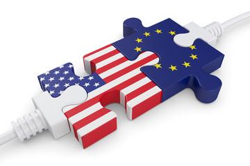 cooperation Usa EU Puzzleverbindung