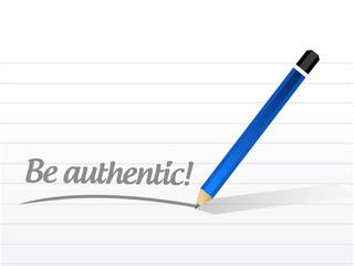 be authentic message sign illustration design
