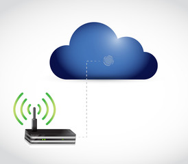 cloud computing and router connection illustration