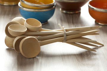 Moroccan wooden soup spoons