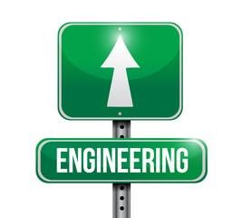 engineering street sign illustration design