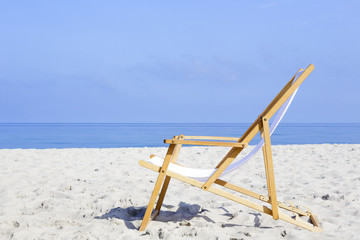 Beach chair stands alone