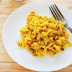 risotto with turmeric