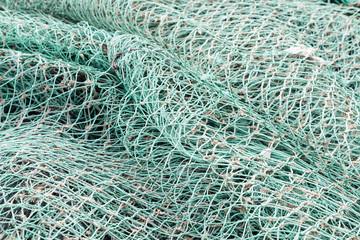 Closeup of green netting