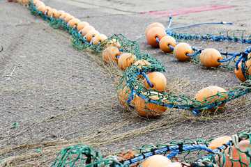 Rope with buoys