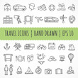 Hand drawn travel icons made in vector - 70390930