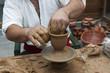 Potter clay bowl