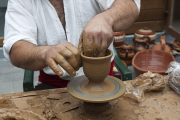 Potter clay bowl