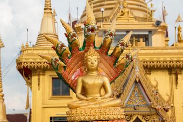 Seated golden Buddha