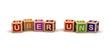 Leinwanddruck Bild - Über Uns Play Cubes