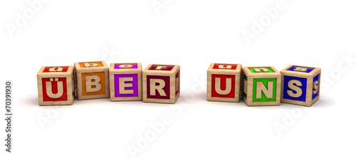 Leinwanddruck Bild Über Uns Play Cubes