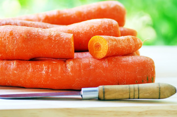 Preparation of a carrot salad