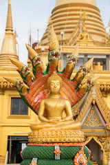 Seated golden Buddha