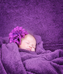 Stylish newborn girl