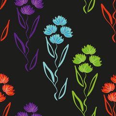 Seamless Repeating Pattern with Flowers