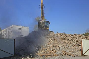Dismantling of old buildings