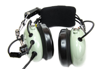 Pilot's headset with microphone