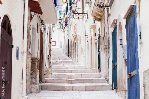 Street in Vieste, Puglia, Italy - 70392582