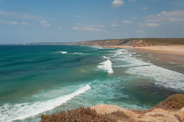 Atlantic ocean in Algarve coast, Portugal. Summer vacations