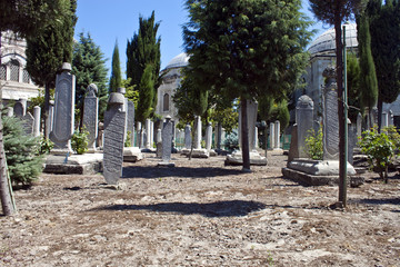 Old cemetery in Istanbul, Turkey
