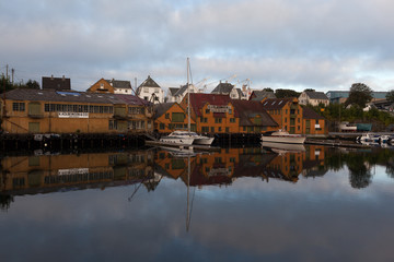 Утро в Хаугесунде. Норвегия.