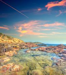 Alghero coast in hdr