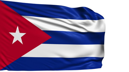 flag of Cuba with fabric structure; looping