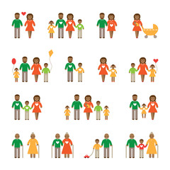 African American family set