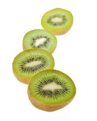 kiwi on white background