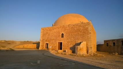 Moschea nella fortezza di rethimno in creta grecia.