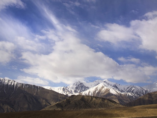 Mountain and cloud In Ladakh Region, India