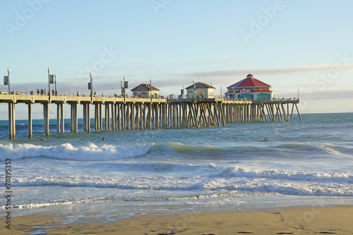 In de dag Strand Huntington Beach Pier