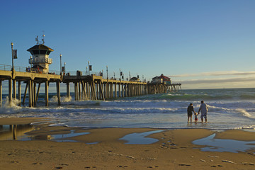 Huntington Beach Pier Family