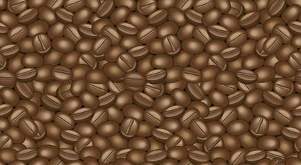 Coffee beans, Mocha, Endless pattern