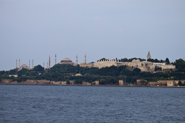 Istanbul skyline with mosques, Turkey