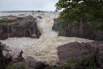 Raneh falls during monsoon period, India..