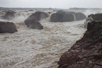 Raneh falls during monsoon period, India