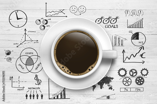 Coffee break / Business Symbols Photo by Coloures-Pic