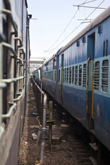 Two long trains in India