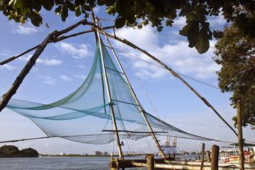 Chinese fishing net in Kochi, Kerala, India