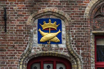 Old brickwork in Brugge, Flanders, Belgium